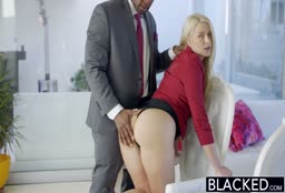 Tight Blonde Gets The BBC