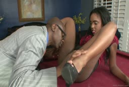Ebony Babe Fucks A Hung Black Guy