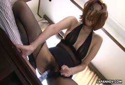 Mature Asian In Riped Pantyhose Fucked By Her Old Husband