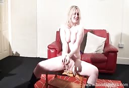 Chubby Blonde Babe Gets Tied Up For The First Time