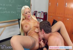 Guy Fucks Blonde Music Teacher
