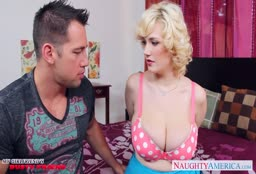 Horny Guy Cheats With Busty Blonde